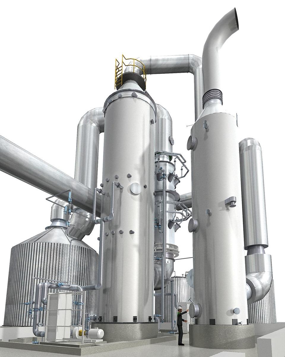 Química e Derivados - Produção de ácido sulfúrico a partir de gases odoríferos ©QD Foto: Divulgação